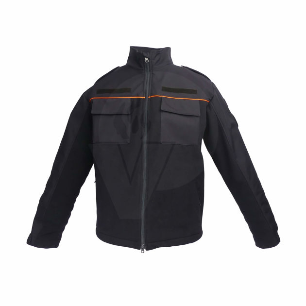 Fire jacket or for the Civil Protection unit, a combination of windstopper and softshell material.