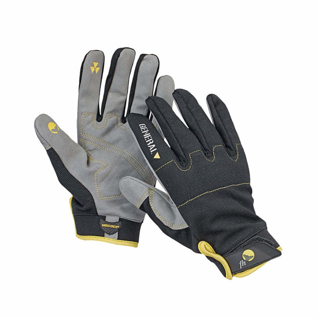 Protective work gloves Epops. Combined protective gloves with palm made of imitation suede.
