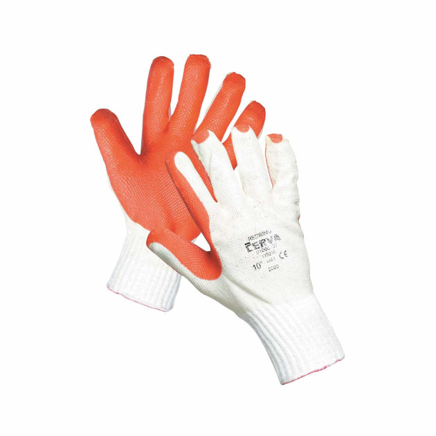Protective work gloves Redwing Adria are used to protect hands from mechanical risks.