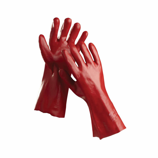 Protective work PVC gloves Redstart, protect your hands against mechanical risks.