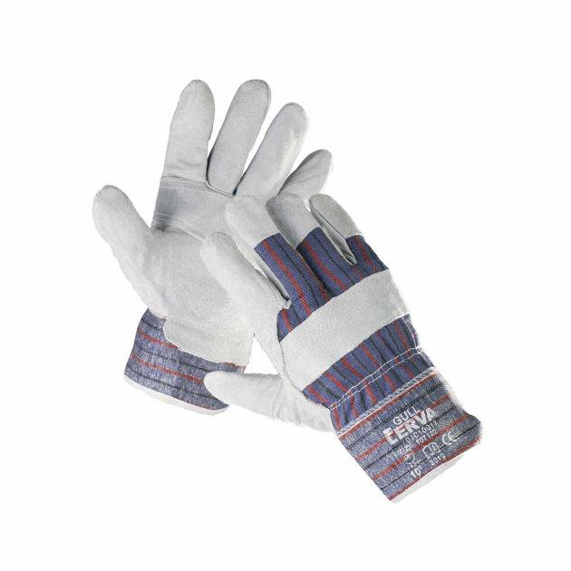 Zaštitne radne rukavice Gull, s dlanom od goveđeg špalta. Pružaju zaštitu ruku od mehaničkih rizika.