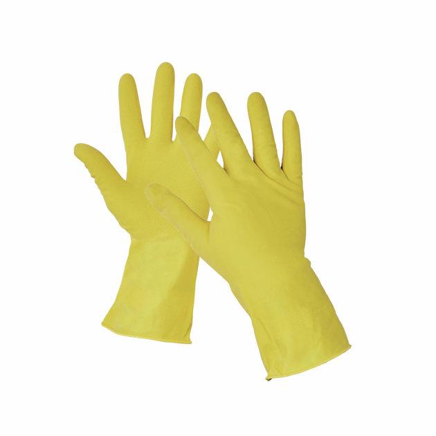 Starling radne zaštitne rukavice od lateksa na pamučnoj podlozi, flokirane, protuklizni sloj na dlanu i prstima.