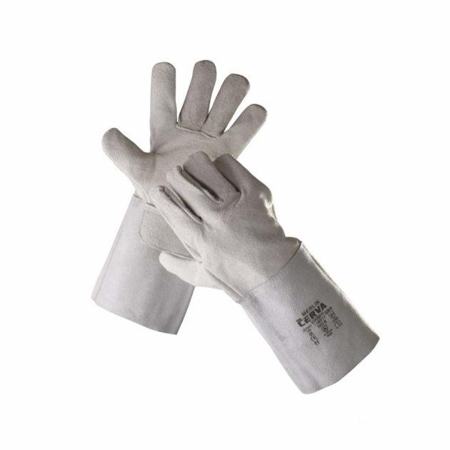 Zaštitne radne rukavice Merlin, za zavarivače, od goveđe kože, tip B, manžeta dužine 15 cm, bez podstave.