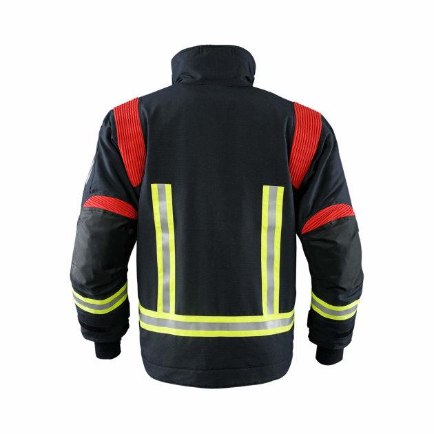 Vatrogasno odijelo Texport Fire Stretch, ergonomsko sa rastezljivim područjima na ramenima i rukavima.