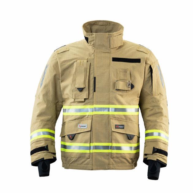 Vatrogasno interventno odijelo za gašenje strukturnih požara, Texport Fire Stretch, IB-TEX®, zlatno.