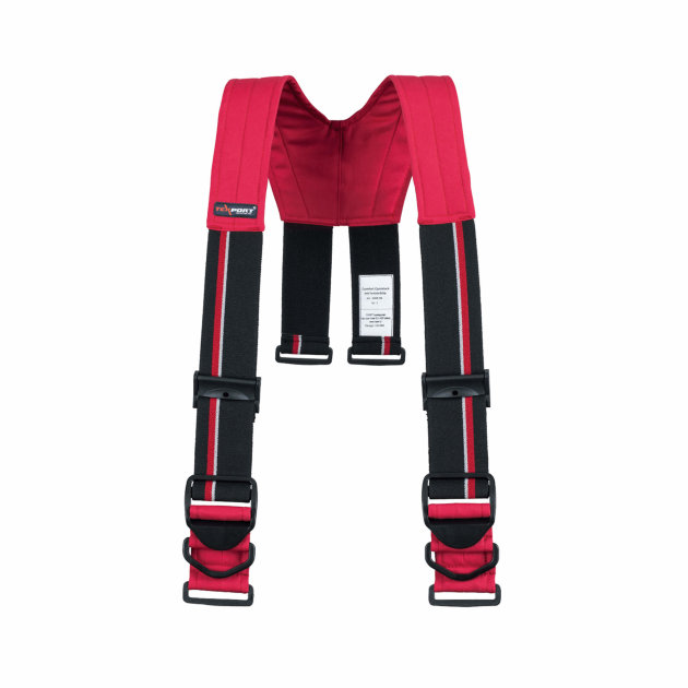 Naramenice za intervencijsko vatrogasno odijelo Comfort Quicklock crvene