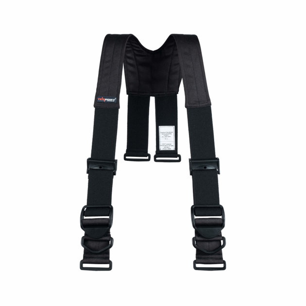 Naramenice za intervencijsko vatrogasno odijelo Texport Comfort Quicklock with clip, crne
