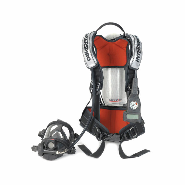 Breathing apparatus for firefighters Interspiro Spiroguide II