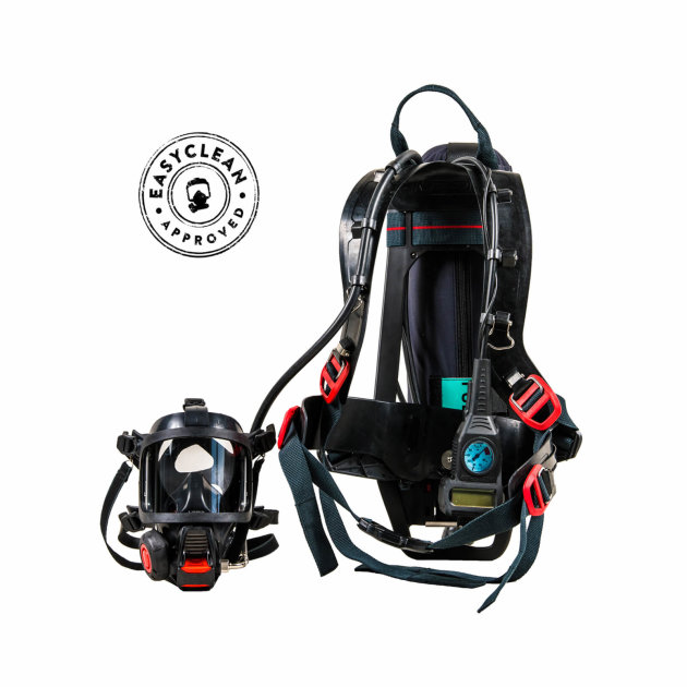 Breathing apparatus for firefighters Interspiro Incurve-E
