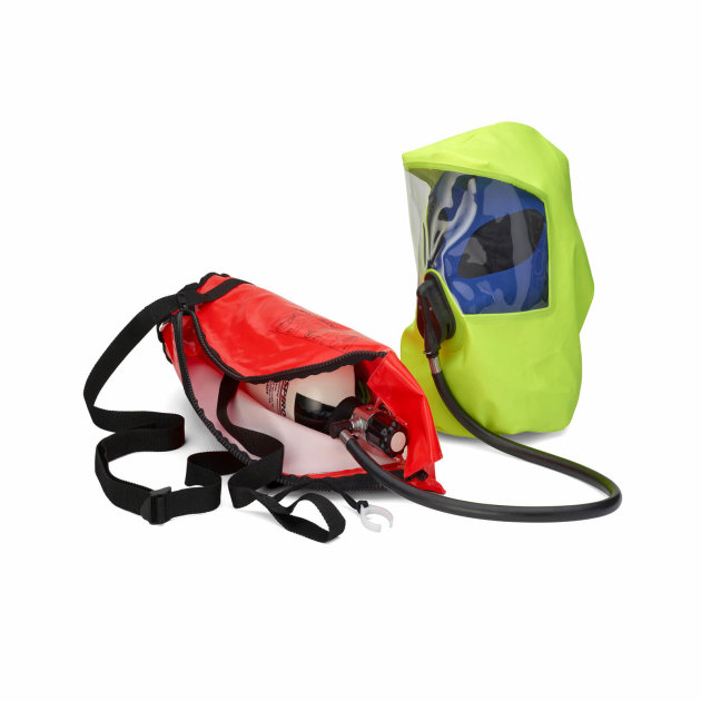 Spiroscape Emergency Escape Breathing Device, used to escape from smoke-filled or toxic environments