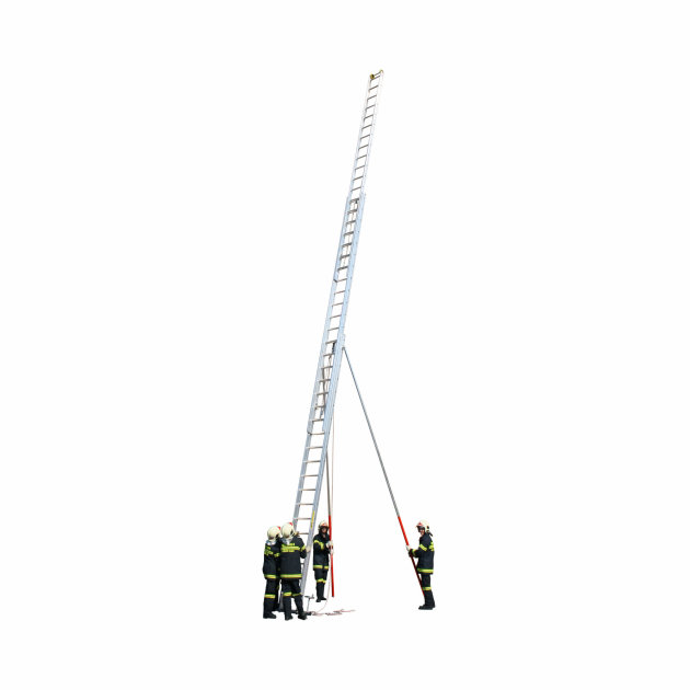 Aluminium three part ladders for firefighters