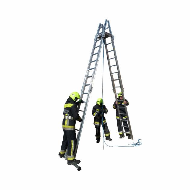 Aluminium scaling fire ladders