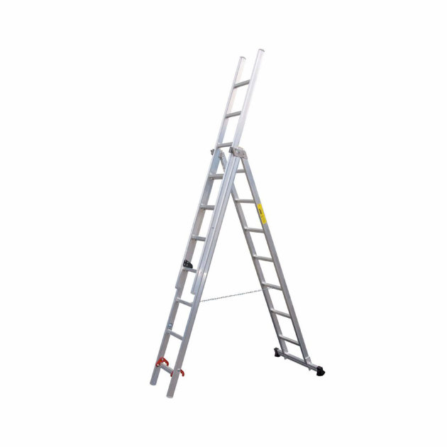 Aluminium Combination Ladder 3-Part for firefighters