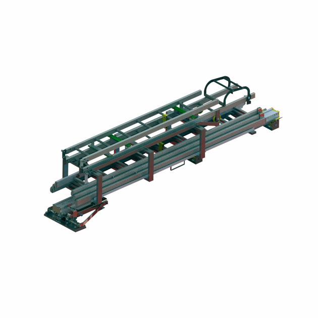 Drop-down ladder rack for mounting onto the roof of the firefighting vehicl