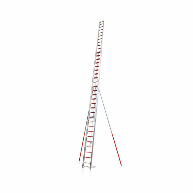 Rope operated Aluminium Extension Ladders for firefighters and rescue
