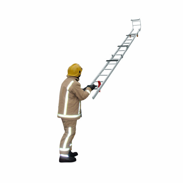 Roof Ladders for firefighters with foldable hook