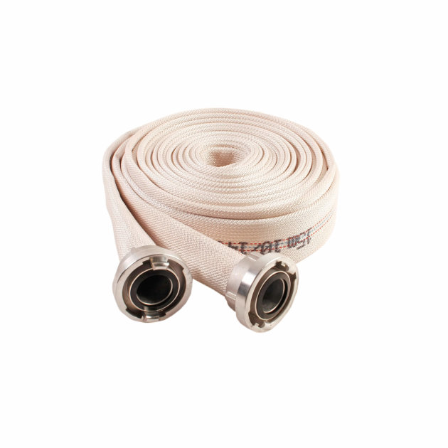 Fire pressure hose, diameter 52 mm with couplings