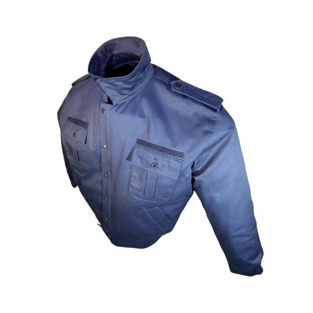 Radno odijelo tamno plave boje za vatrogasce. Uključuje radnu jaknu (bluzu) i radne hlače.
