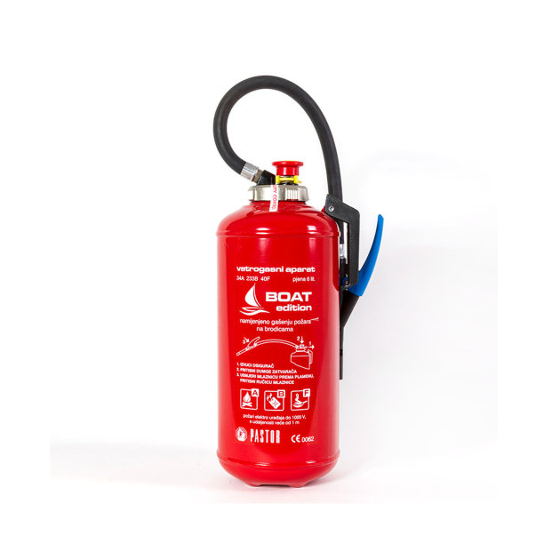 fire extinguisher with foam