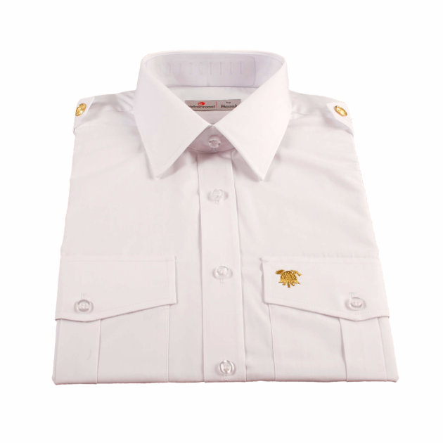 Firefighter White Formal Men Shirt