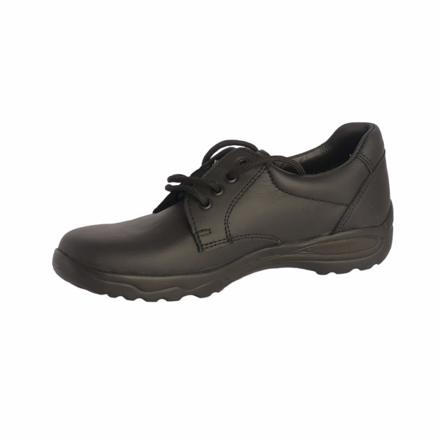 "Low shoes made of black natural leather ""Tone IV"", for firefighters, civil protection and leisure."