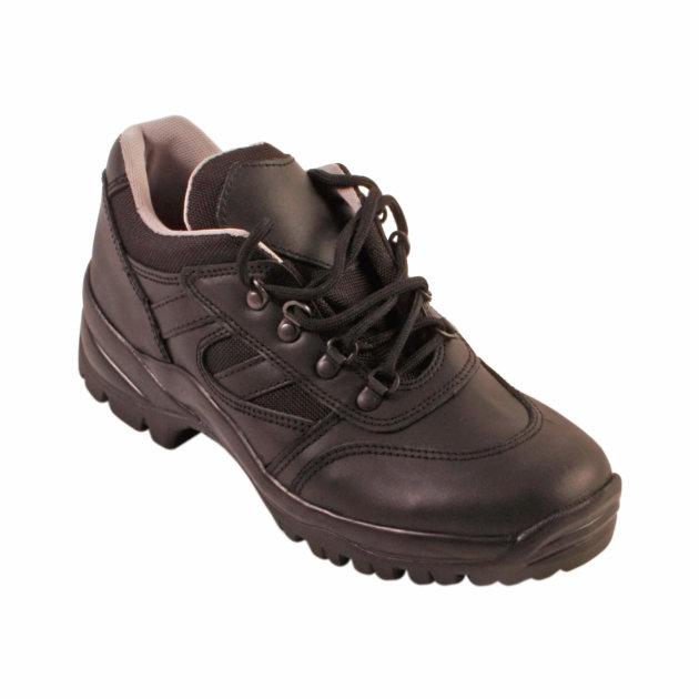 Radne cipele od crne kože za vatrogasce i civilnu zaštitu.