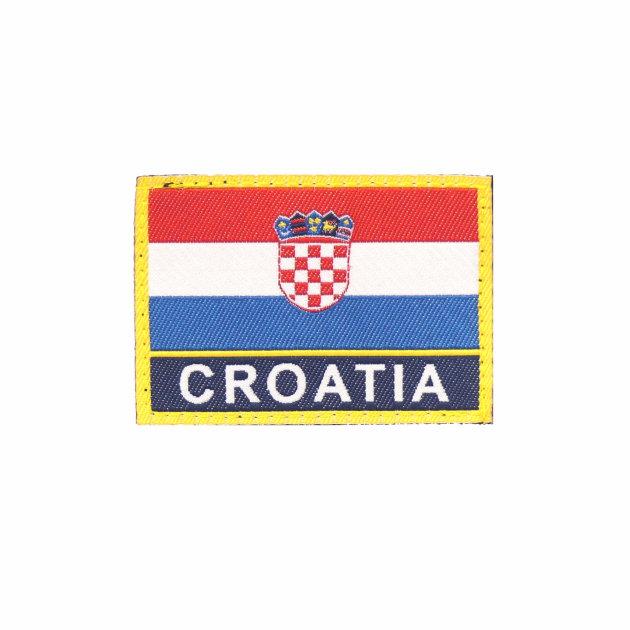 Amblem za rukav na čičak Hrvatska zastava