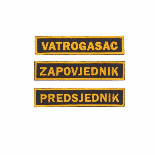 Amblem prezimena / dužnosti za vatrogasno intervencijsko odijelo i radnu uniformu