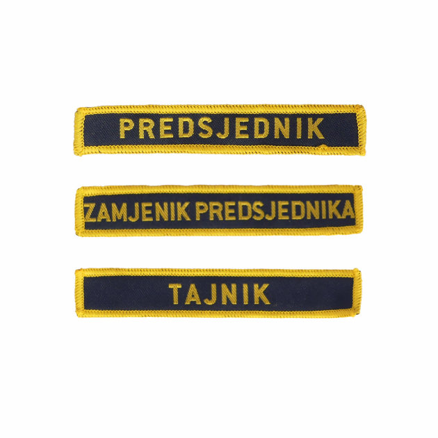Last name / duty emblem for firefighter intervention suit and work uniform