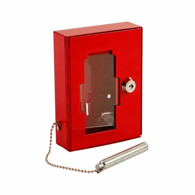 Metalni ormarić za ključ sa staklom