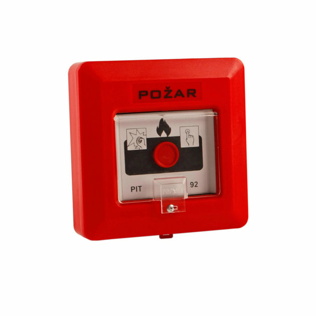 Fire Alarm PIT-92t, wall mounted with button
