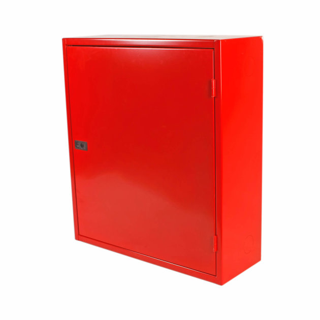 Hydrant cabinet with drum and equipment