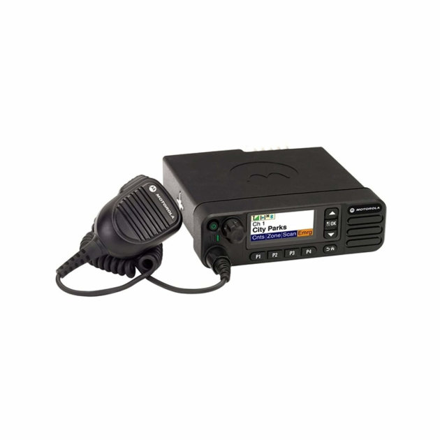 Motorola DM4601e mobile radio, digital, for installation in fire trucks and other vehicles