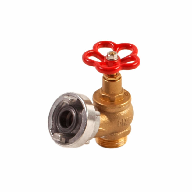"Angle valve MS 1"" with stable coupling and adjustable nut"