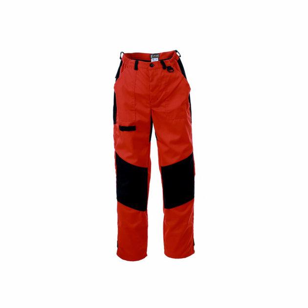 Radne zaštitne hlače Spektar, crvene, sa dodatnim pojačanjem na koljenima