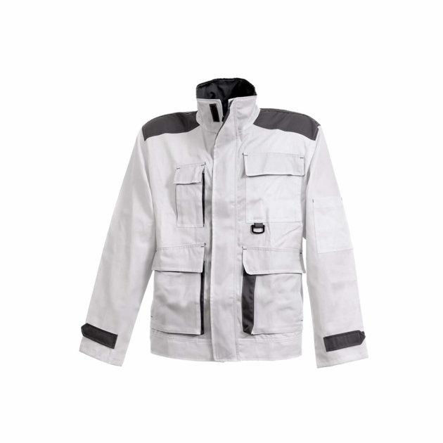 Radna jakna Spektar sa pet funkcionalnih džepova, bijela boja