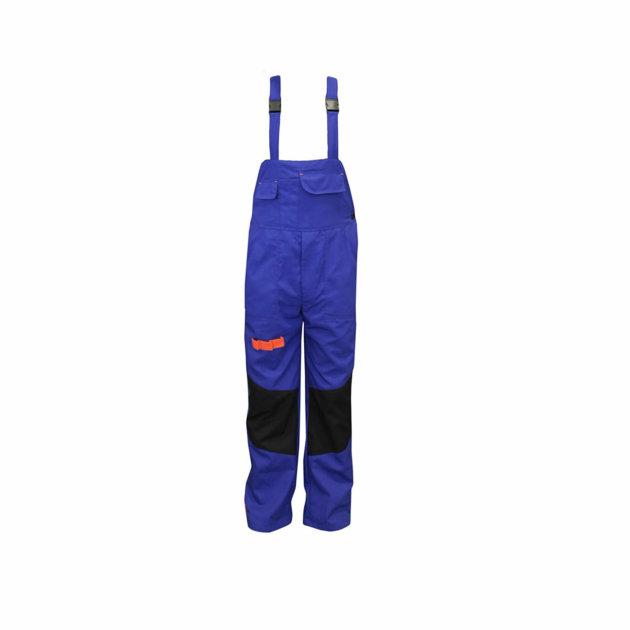 Radne farmer hlače Spektar, sa podesivim tregerima, royal plave