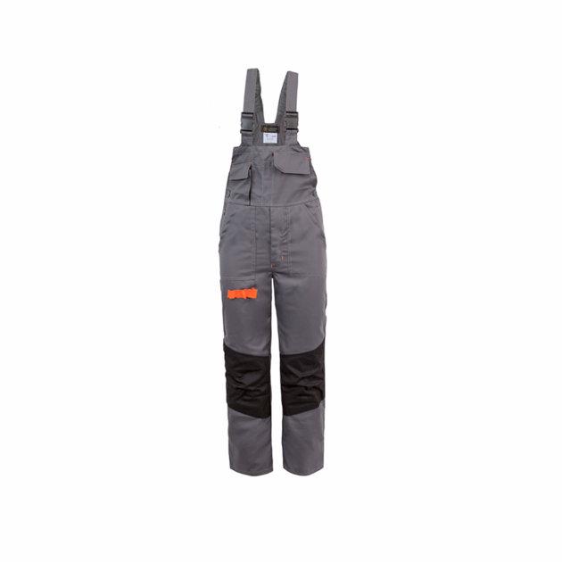 Radne farmer hlače Spektar, sa podesivim tregerima, sive