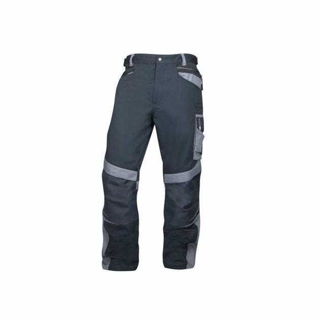 Radne hlače R8ED+, dodatno pojačanje na koljenima s džepom za štitinke za koljena, crne