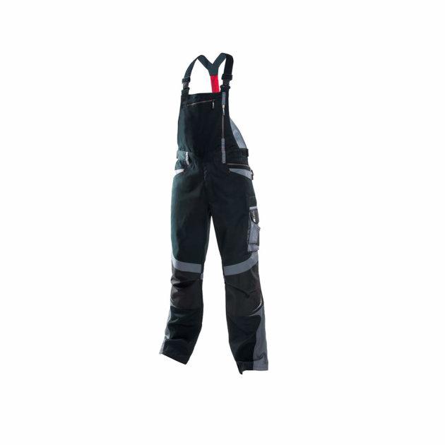 Work Farmer pants R8ED +, with adjustable straps, black
