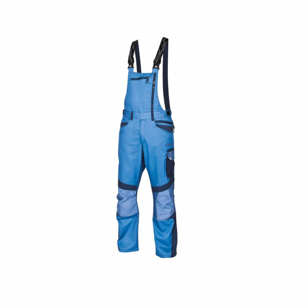 Radne farmer hlače R8ED+, sa podesivim tregerima, plave