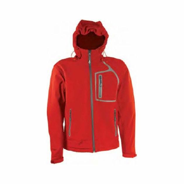 Softshell jakna William, crvena, otporna na vodu i vjetar