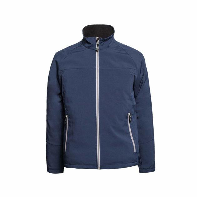 Softshell jakna Spektar, plava, od prozračne softshell tkanine otporne na vodu i vjetar