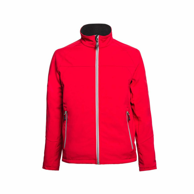 Softshell Jacket Spektar, red, made of breathable softshell fabric, resistant to water and wind