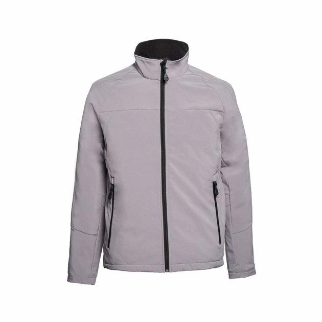 Softshell jakna Spektar, siva boja, od prozračne softshell tkanine otporne na vodu i vjetar