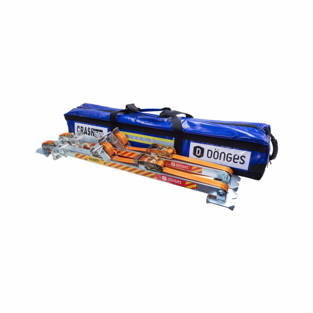 Dönges CrashStay support system is used for rescue in traffic accidents