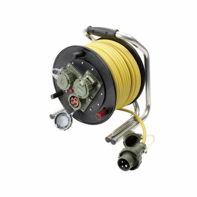 Produžni strujni kabel sa motalicom 230 V, 16 A, CEE DIN 14680, 50 m
