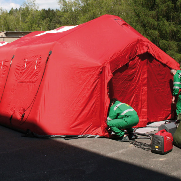 Inflatable Tent ES-35 TL, for ambulance, police, firefighters and civil protection