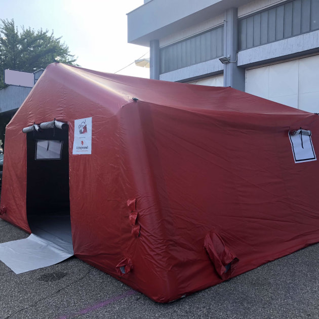 Šator na napuhavanje RCY 30, za Crveni križ, policiju, vatrogasce i civilnu zaštitu