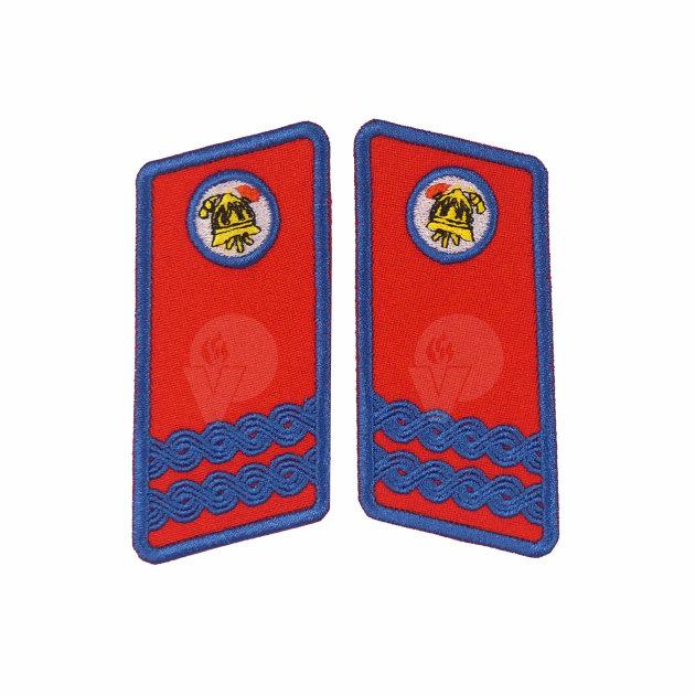 Vatrogasne oznake dužnosti za svečano odijelo, Zamjenik zapovjednika VZG, VZO, VZP